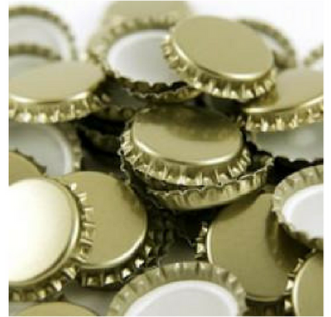 Belgian Gold Crown Caps - 100 Count