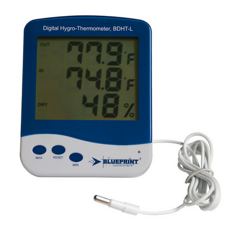 Digital HygroThermometer Large Blueprint Controllers®