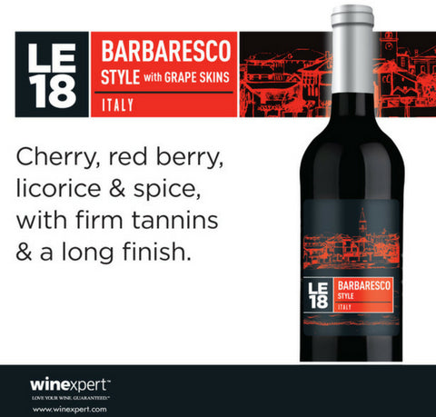 Wine Kit Limited Edition 2018 Barbaresco Winexpert