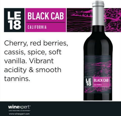 Wine Kit Limited Edition 2018 Black Cab Winexpert
