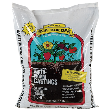 Soil Builder Earth Worm Castings - 15 Pounds