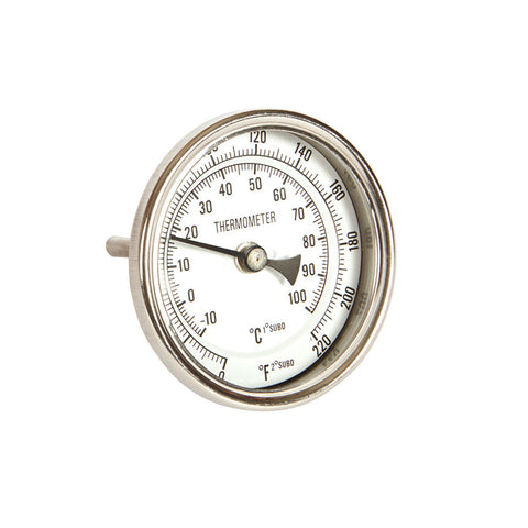 "AS 2"" Weldless Brewing Thermometer"