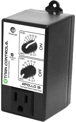 Titan Controls Apollo 12 Cycle Timer - Short Cycle Timer with Photocell