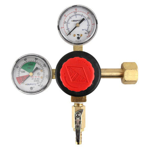 "Taprite Double Gauge CO2 Regulator with 1/4"" MFL Fitting"