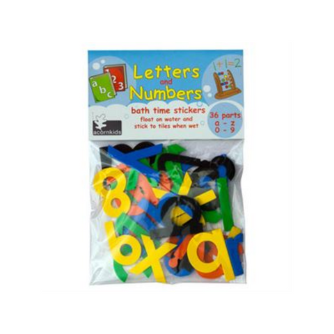 Bath time foam stickers - Letters and Numbers