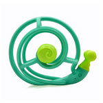 Snail baby teether rattle