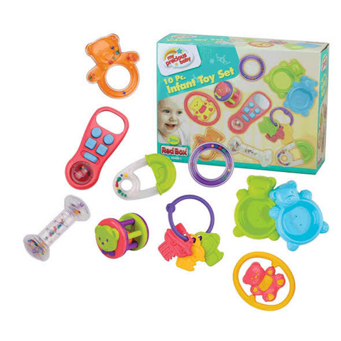 10 piece infant toy set