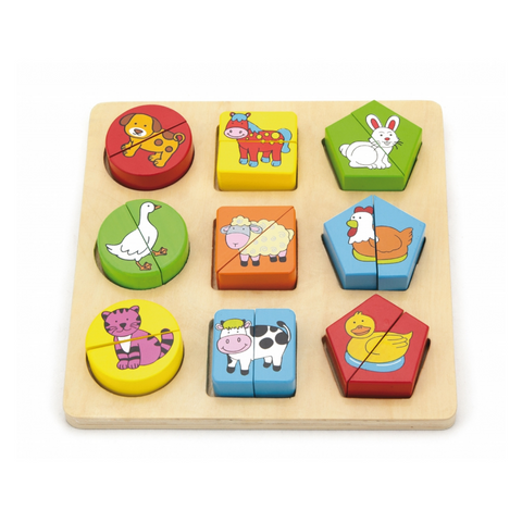 Animal shape block puzzle
