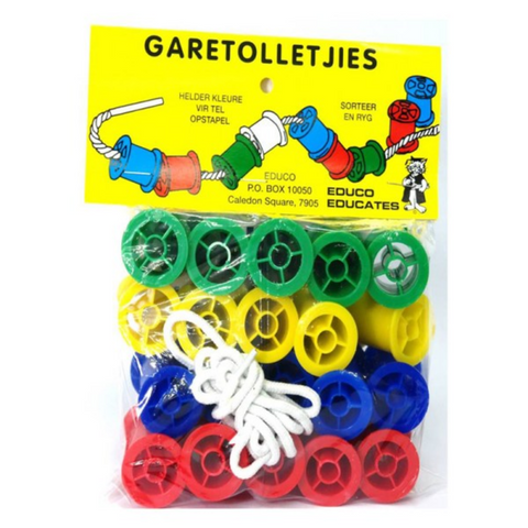 Cotton reels (20 with rope)