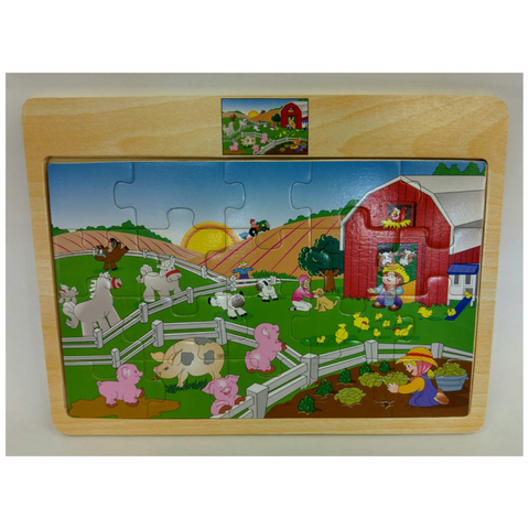 20pc Interlocking puzzle: Farm