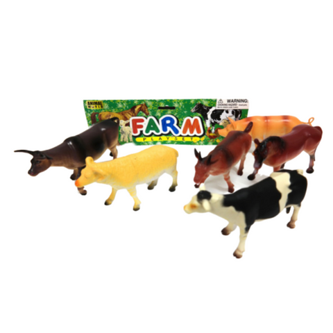 Big plastic farm animal play set