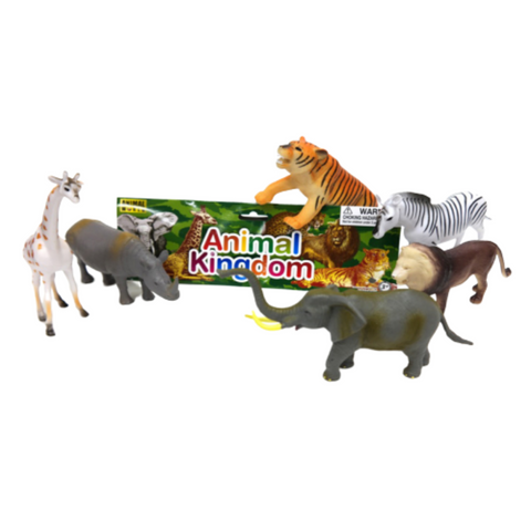 Big plastic wild animal play set