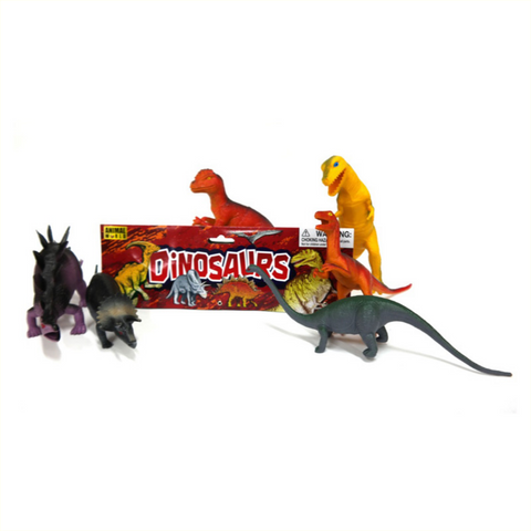 Big plastic dinosaur play set