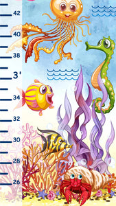 Under the Sea Themed Growth Chart