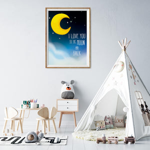 I Love You to The Moon and Back Print - (Unframed)