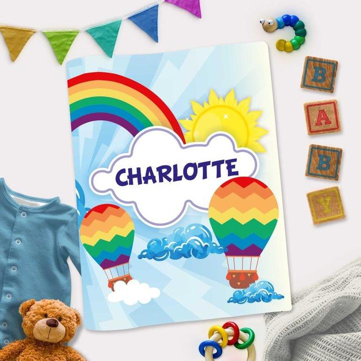 Personalized Interactive Activity Book For Toddlers - Rainbow Theme Cover