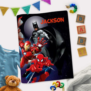 Personalized Interactive Activity Book For Toddlers - Superhero Theme Cover