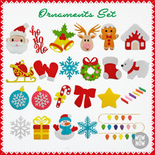 Load image into Gallery viewer, 23 Colorful Felt Ornaments for Christmas - 🎅
