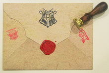 Load image into Gallery viewer, Personalised Harry Potter Hogwarts Acceptance Letter with Hogwarts School Ministry of Magic Wax Seal Stamp