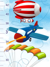 Load image into Gallery viewer, Personalized Air Transport Growth Chart