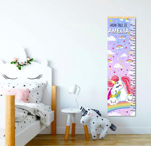 Personalized Unicorn Themed Growth Chart - Height Chart