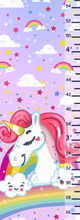Load image into Gallery viewer, Personalized Unicorn Themed Growth Chart - Height Chart