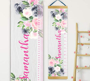 Wooden Effect Growth Chart
