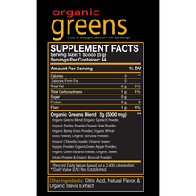 Load image into Gallery viewer, red-BIOLAB-Organic-Greens-Supplement-Facts