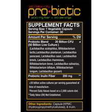 Load image into Gallery viewer, red-BIOLAB-Pro-Biotic-Supplement-Facts