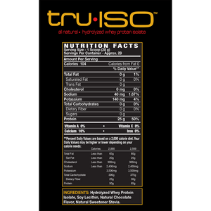 redBIOLAB truISO Hydrolyzed Isolate Protein Supplement-Facts