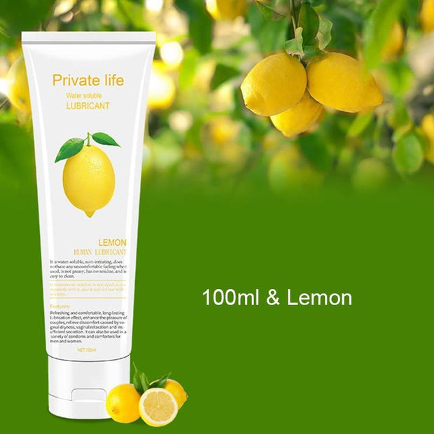 Lemon Water-Based Lubricant