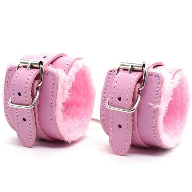 Boudoir Soft Faux Fur Padded Wrist Cuffs
