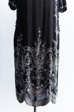 1920s Black Crepe Flapper Dress - M/L