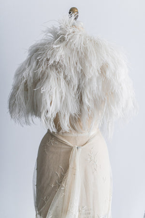 [SOLD] 1930s Ostrich Feather Capelet