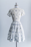 [SOLD] 1950s Floral Day Dress - XS