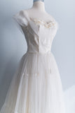 [SOLD] Off-the-Shoulder Tulle Wedding Gown