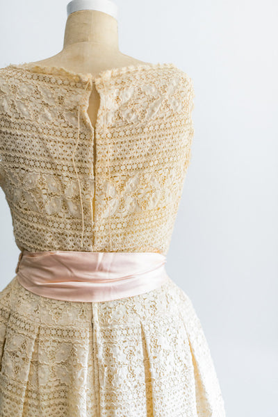 1950s Crochet Lace Dress - S/M