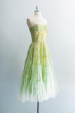 1950s Mint Green Party Dress - XS