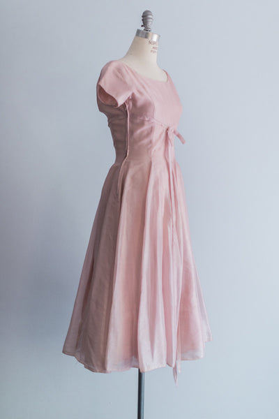 1950s Irridescent Silk Organza Dress - S/M