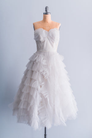 1950s Tulle Ballerina Party Dress -XS