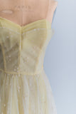 1950s Canary Yellow Tulle Dress - S