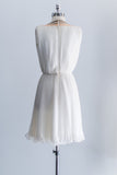 [SOLD] 1950s Beaded Chiffon Pleated Dress - XS