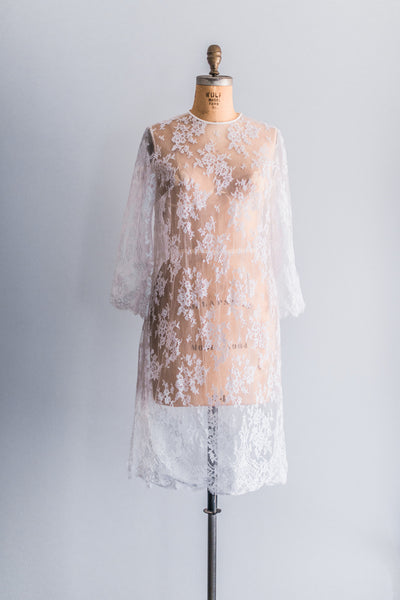 [SOLD] 1960s Lace Mod Dress - L