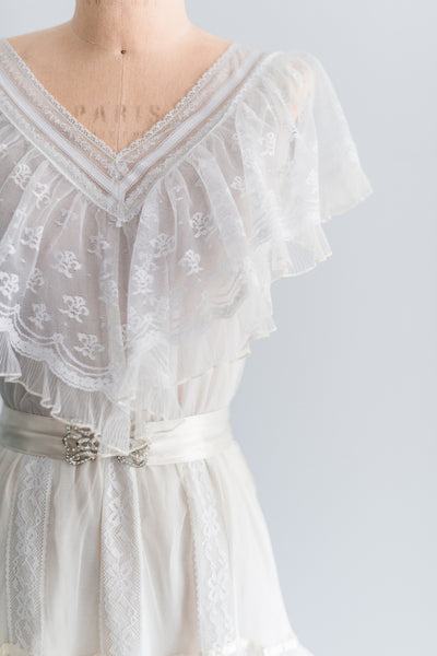 1970s Boho Tiered Gown - S