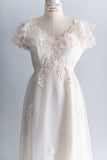 White Daisy Wedding Gown