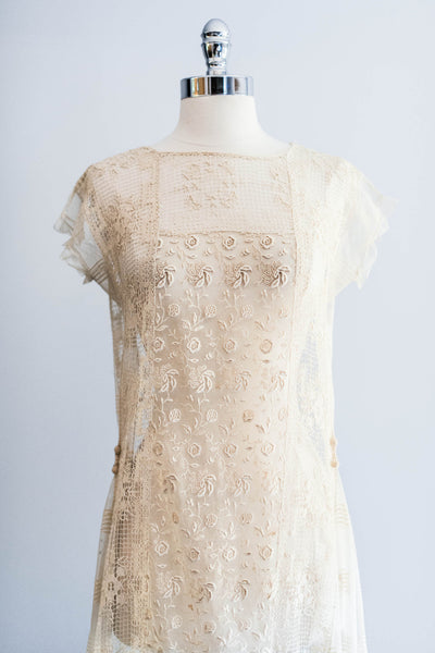 [SOLD] Lace Embroidered Flapper Dress