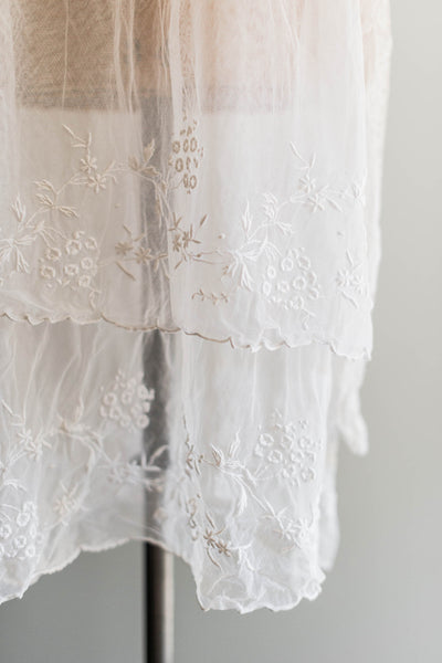 [SOLD] Embroidered Lace Flapper Dress