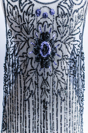 1920s Art Deco Sequined Flapper Dress