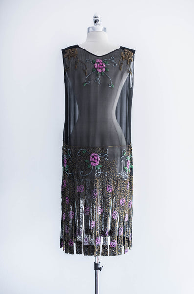 [SOLD] Beaded Flapper Dress