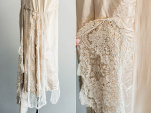 [SOLD] Silk Chantilly 2-Piece Wedding Dress Ensemble